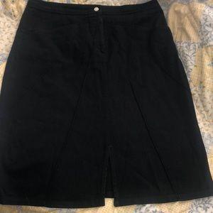 Zara basic size 8 skirt slip in front black denim